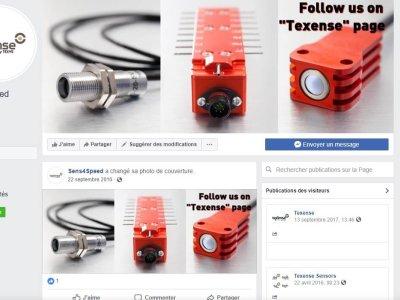 Page Facebook pour Sens4Speed